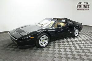 Ferrari 328 STUNNING. SERVICED. 35K MILES. NERO BLACK!