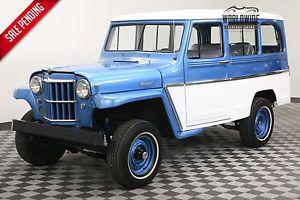 Willys STATION WAGON RESTORED 4X4 SUPER HURRICANE.