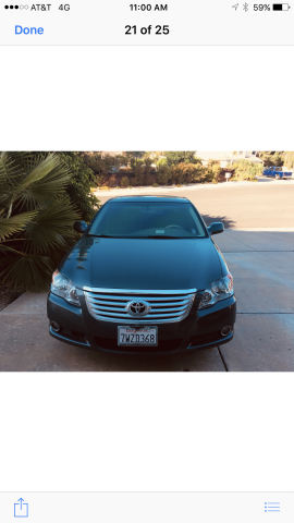 Toyota Avalon Limited For Sale In Chula Vista |